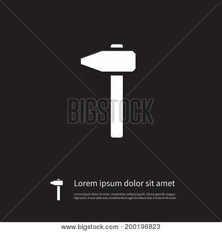 Repair Vector Element Can Be Used For Repair, Carpentry, Hammer Design Concept.  Isolated Carpentry Icon.