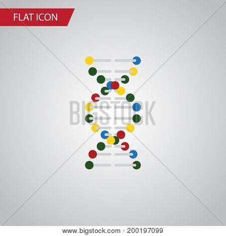 Genome Vector Element Can Be Used For Genome, Dna, Helix Design Concept.  Isolated Dna Flat Icon.
