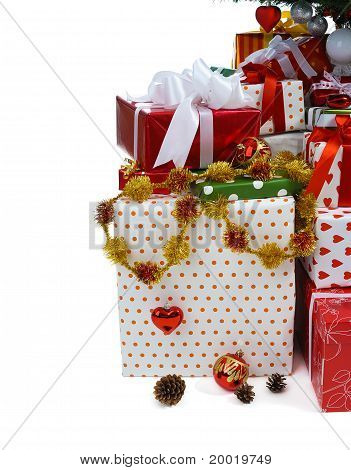 Gift Boxes Under Christmas Tree