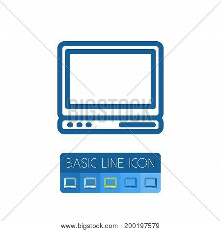 Display Vector Element Can Be Used For Laptop, Display, Computer Design Concept.  Isolated Laptop Outline.
