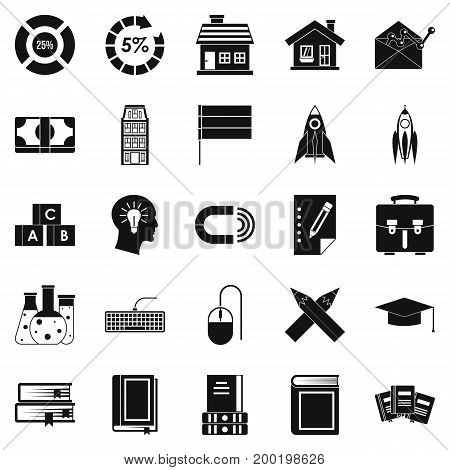 Discoverer icons set. Simple set of 25 discoverer vector icons for web isolated on white background