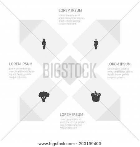 Icon Greens Set Of Bulgarian Bell, Ripe, Ingredient And Other Vector Objects