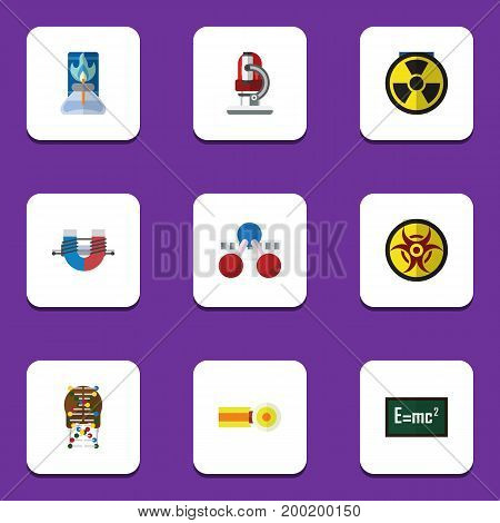 Flat Icon Knowledge Set Of Glass, Irradiation, Theory Of Relativity And Other Vector Objects
