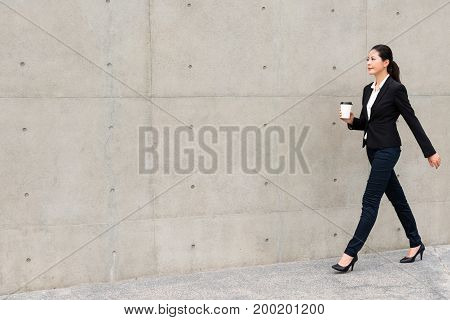 Lawyer Woman Confident Walking On Outdoor