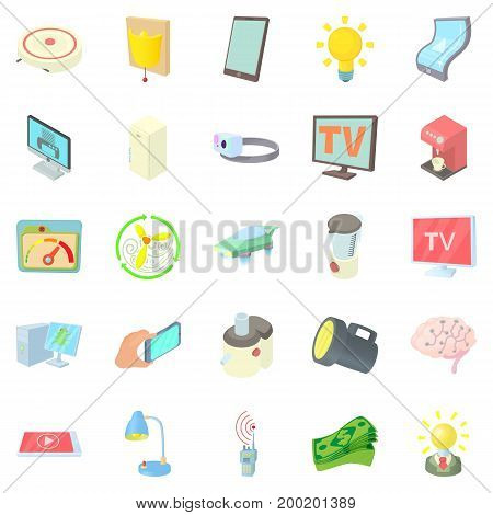 Backlight icons set. Cartoon set of 25 backlight vector icons for web isolated on white background