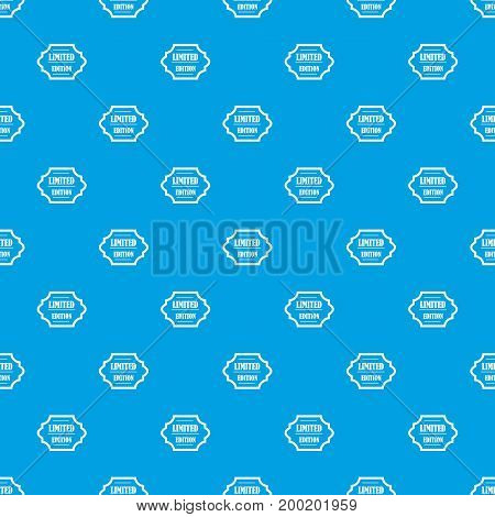 Limited edition pattern repeat seamless in blue color for any design. Vector geometric illustration