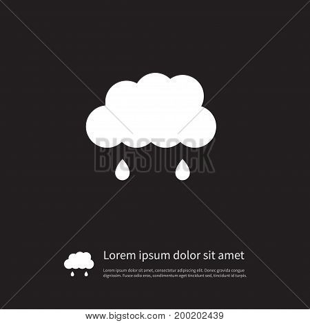 Rainy Vector Element Can Be Used For Cloudy, Rainy, Raindrop Design Concept.  Isolated Cloudy Icon.