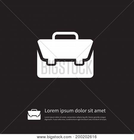 Handbag Vector Element Can Be Used For Handbag, Portfolio, Suitcase Design Concept.  Isolated Portfolio Icon.