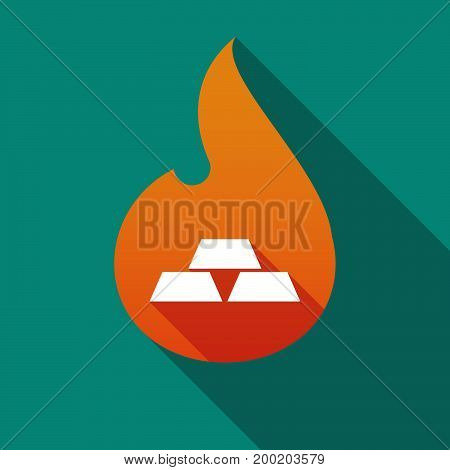 Long Shadow Flame With Three Gold Bullions