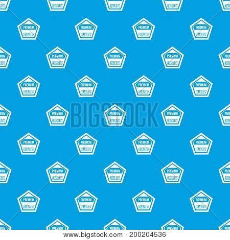 Premium quality label pattern repeat seamless in blue color for any design. Vector geometric illustration