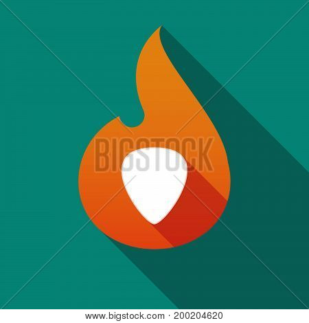 Long Shadow Flame With A Plectrum