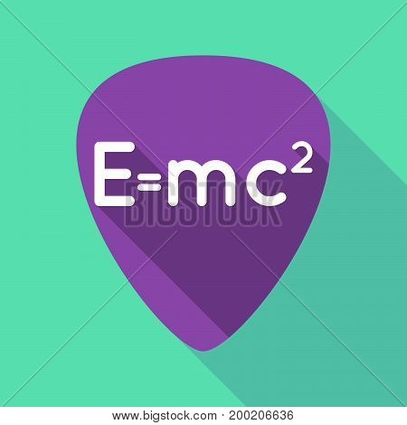 Long Shadow Plectrum With The Theory Of Relativity Formula