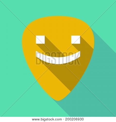 Long Shadow Plectrum With A Smile Text Face