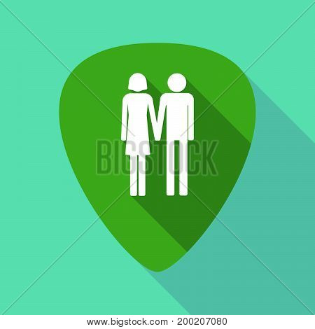 Long Shadow Plectrum With A Heterosexual Couple Pictogram