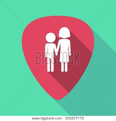 Long Shadow Plectrum With A Childhood Pictogram
