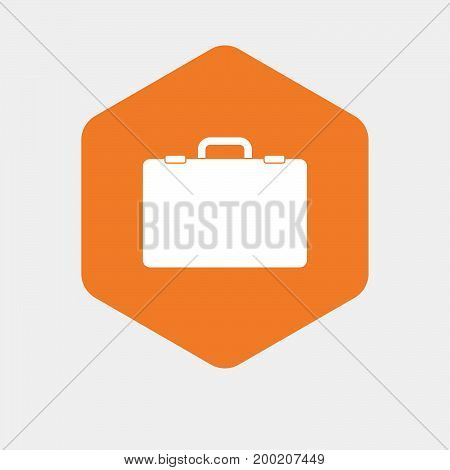 Isolated Hexagon With  A Briefcase