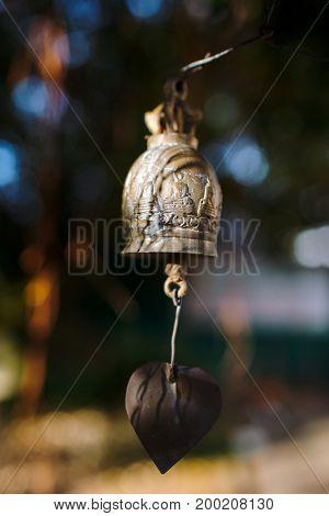 Bells hanging under Big Buddha in Phuket, Thailand