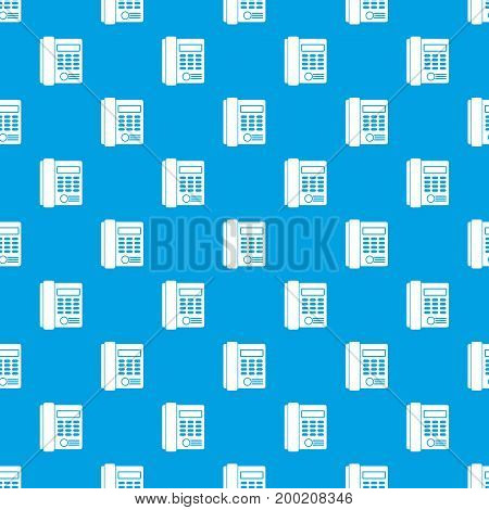 Office business keypad phone pattern repeat seamless in blue color for any design. Vector geometric illustration