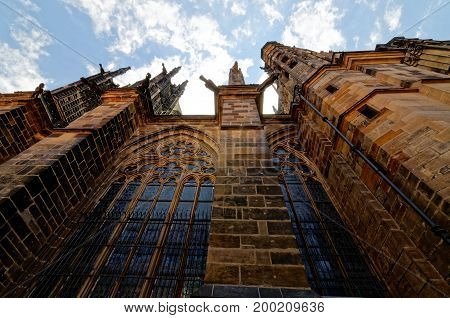 Czech Republic, Prague. St. Vitus Cathedral Wenceslas and Adalbert