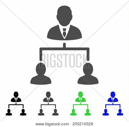 Human Hierarchy flat vector pictogram. Colored human hierarchy, gray, black, blue, green pictogram versions. Flat icon style for web design.
