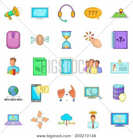 Notebook icons set. Cartoon set of 25 notebook vector icons for web isolated on white background