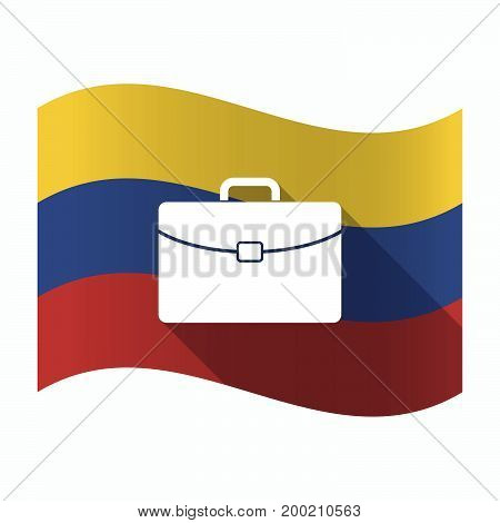 Isolated Venezuela Flag With  A Briefcase
