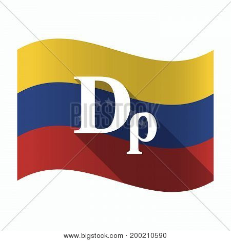 Isolated Venezuela Flag With A Drachma Currency Sign