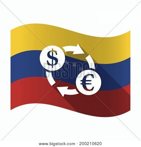 Isolated Venezuela Flag With A Dollar Euro Exchange Sign