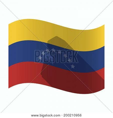 Isolated Venezuela Flag With A Toy Crank