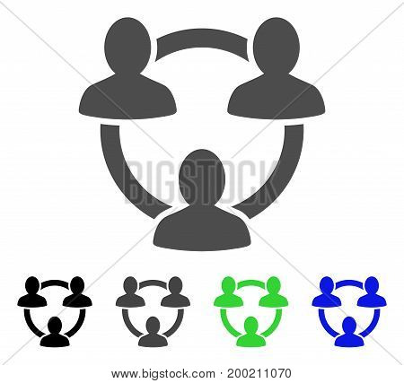 Trust Circle flat vector pictograph. Colored trust circle, gray, black, blue, green pictogram versions. Flat icon style for web design.