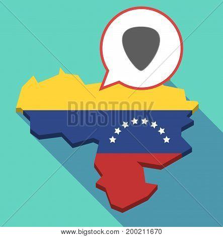 Long Shadow Venezuela Map With A Plectrum