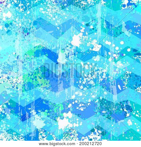 Blue vector abstract Grunge background. Raster version