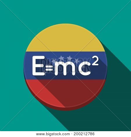 Long Shadow Venezuela Button With The Theory Of Relativity Formula