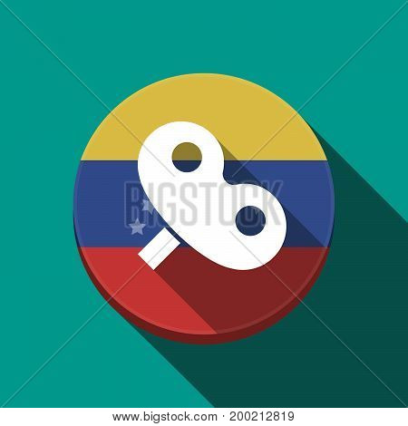 Long Shadow Venezuela Button With A Toy Crank