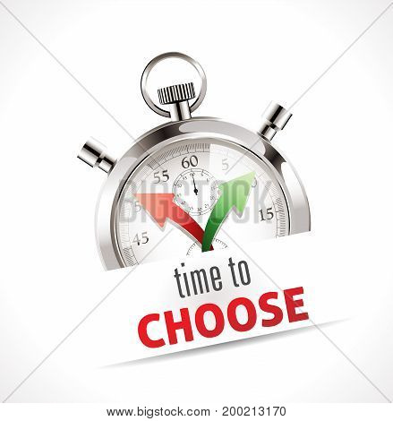 Stopwatch - time to choose - stock illustration
