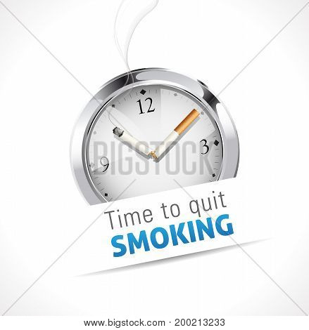 Time to quit smoking - stock illustration