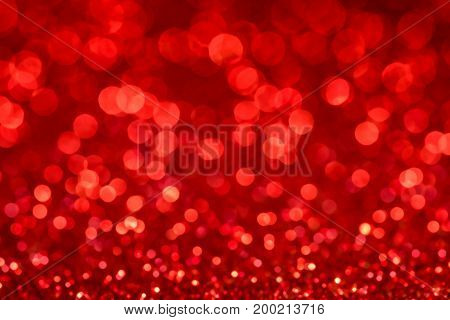 Abstract defocused red background for christmass cards