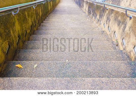 Stairs stone walkway ancient down mountain in temple
