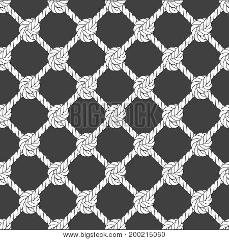 Seamless diagonal rope mesh - rope grid pattern
