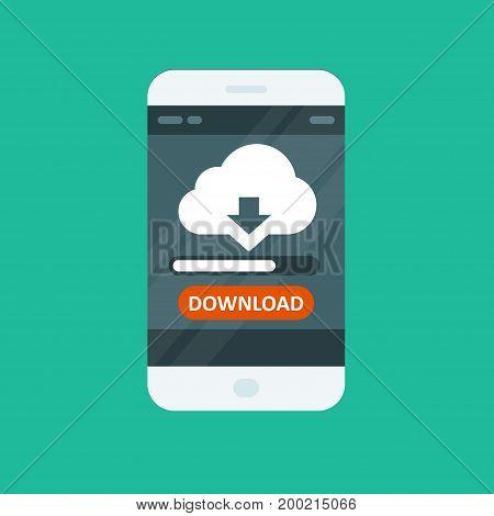 Cloud computing app - download progress bar