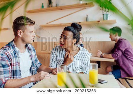 Multiethnic Couple Quarreling