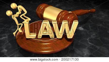 Legal Assistance Concept The Original 3D Characters Illustration