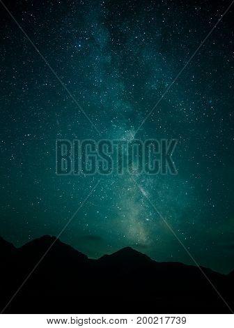 The Milky Way Above Tatra Mountains In Slovakia