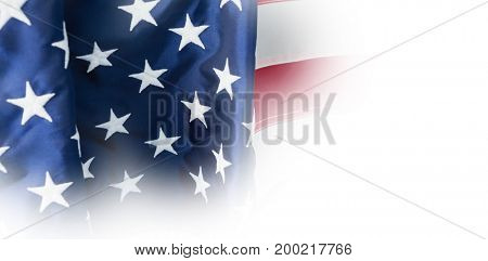 Full frame of American flag with stripes and stars