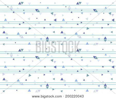 Triangle circle dot pattern seamless Abstract blue halftone color digital hipster fashion design paper textile print stripes dot-dash line pattern. Vector modern geometric texture simple illustration