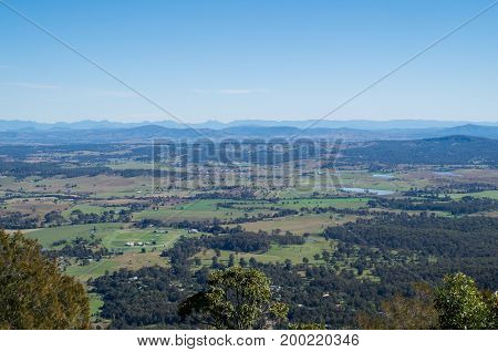 View across Boyland from Rotary Lookout on Mount Tamborine on the Gold Coast, Australia