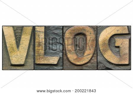 Vlog Word Isolated
