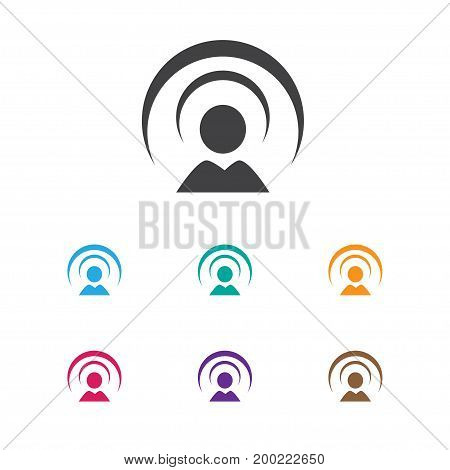 Vector Illustration Of Internet Symbol On Network Icon
