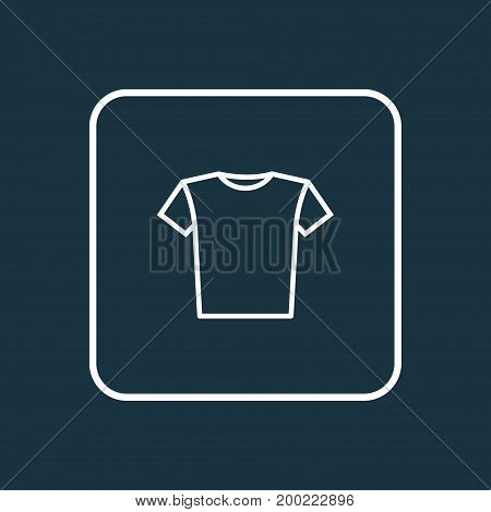 Premium Quality Isolated Blouse Element In Trendy Style.  T-Shirt Outline Symbol.