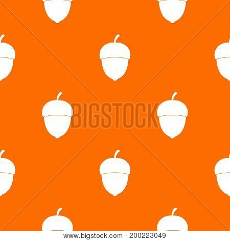 Acorn pattern repeat seamless in orange color for any design. Vector geometric illustration